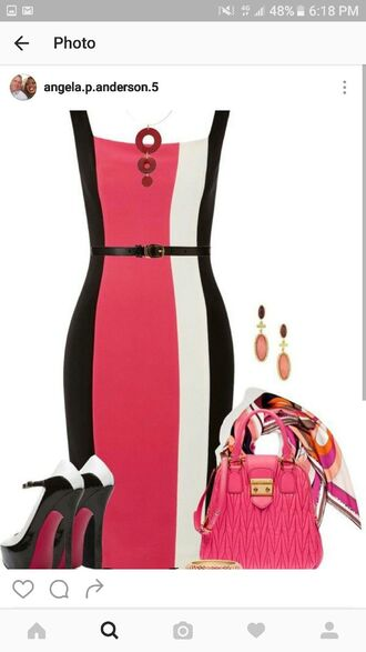 bag bodycon dress date outfit colorblock dress