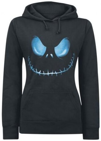 sweater nightmare before christmas spooky halloween fashion style hoodie black blue creepy goth jumper fall outfits long sleeves grunge punk badass streetstyle warm cozy tomboy cool