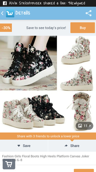shoes sneakers flowered shoes