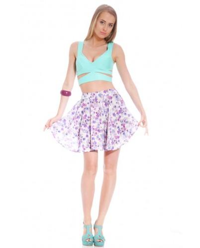 Pastel purple floral skater skirt | tweet tweet | Alive girl the brand