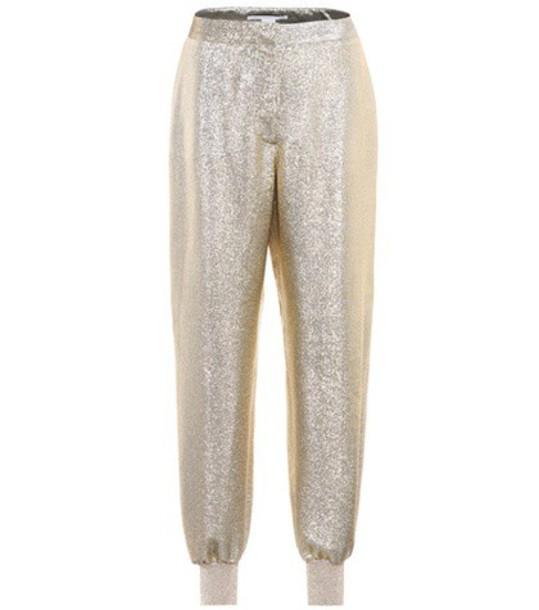 high gold pants