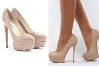 shoes beige pumps high heels pumps style patent shoes