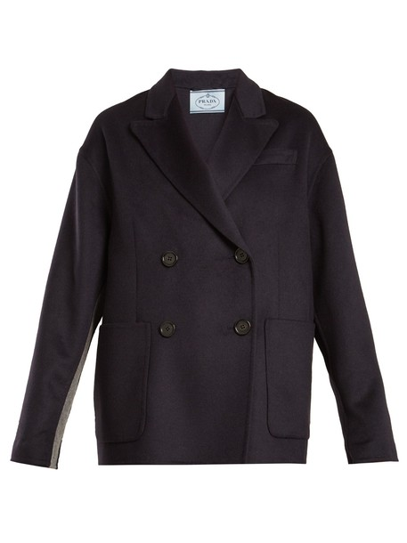 coat wool navy