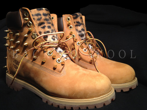 Customized Timberlands With Spikes Timberland Custom Boots