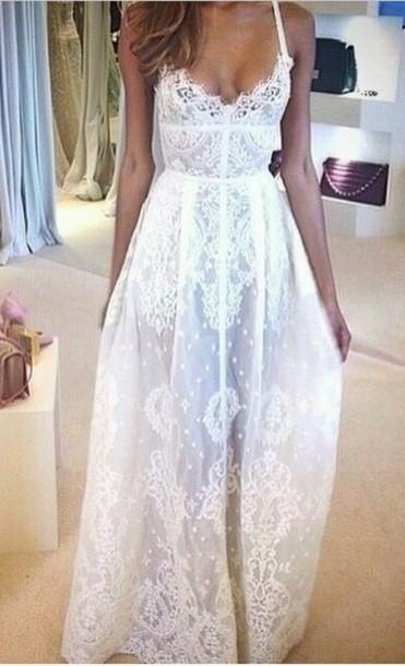 Custom made a line long lace prom dresses, a line long lace wedding dresses