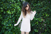 crochet,dress,shirt,vintage,rumi,fashion toast,white dress