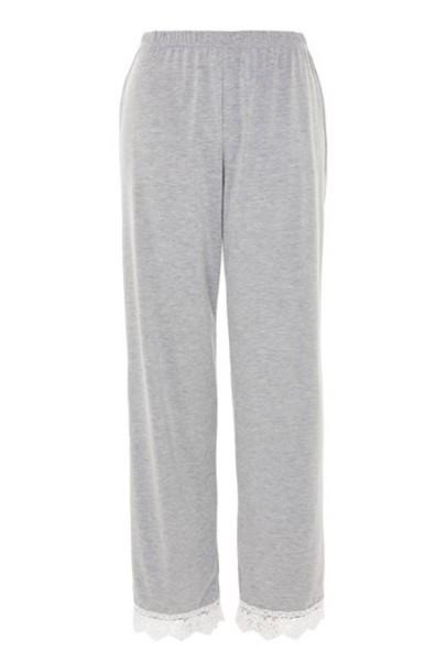 Topshop pants crochet grey