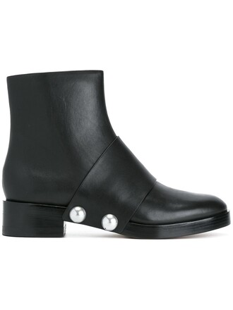 studded boots ankle boots black shoes