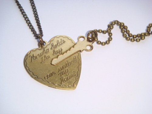 Key To My Heart Couples Necklace Set