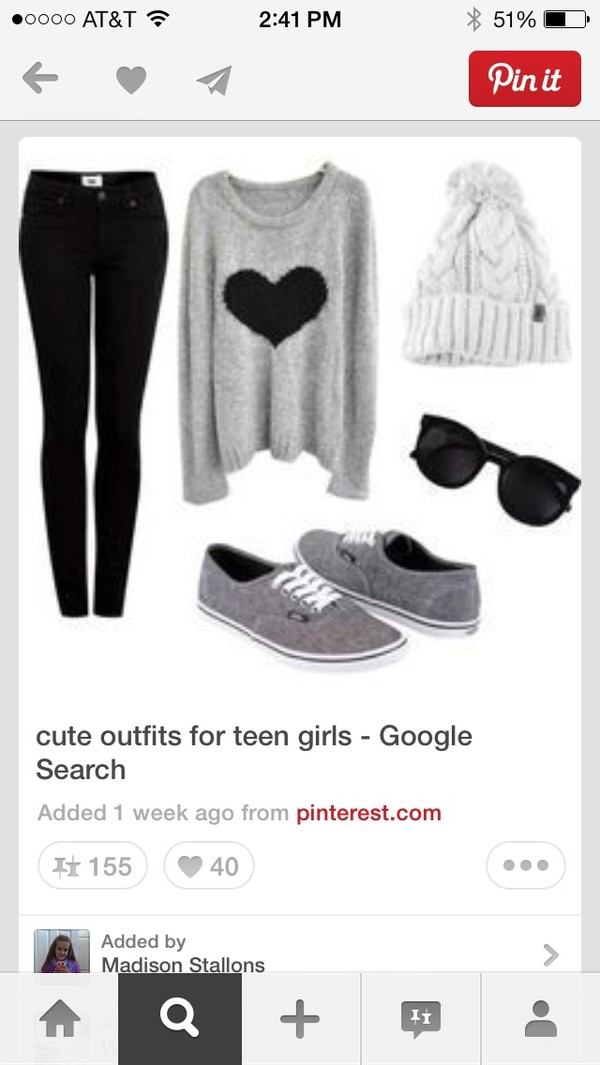 sweater grey heart lazy day shoes