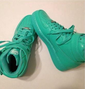 shoes nike nike air force 1 nike air high top sneakers
