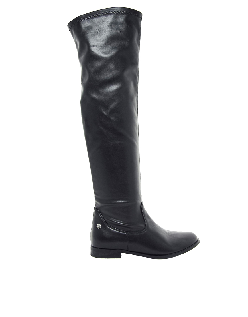 Blink knee high flat boots at asos.com