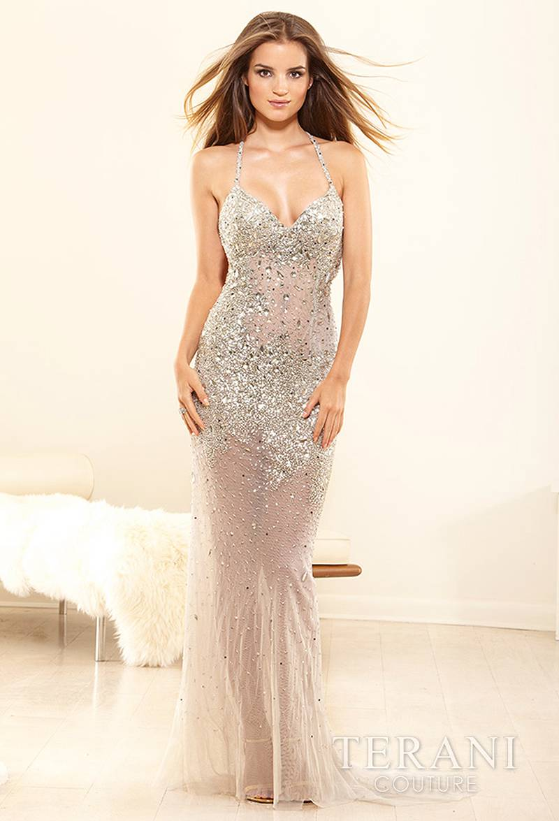 P1647 TERANI Couture Prom Dress Lowest Price GUARANTEE 0 2 4 6 8 10 12 Silver | eBay