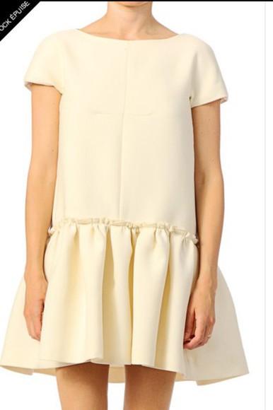 skater dress cream dress