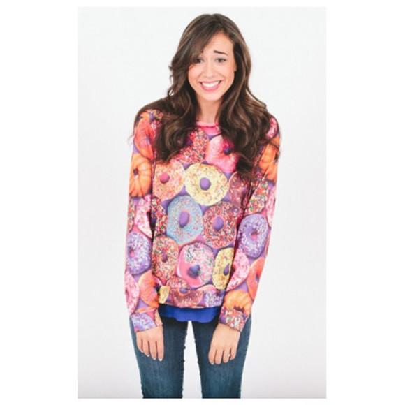 donut donut sweater colleen ballinger sweater/sweatshirt