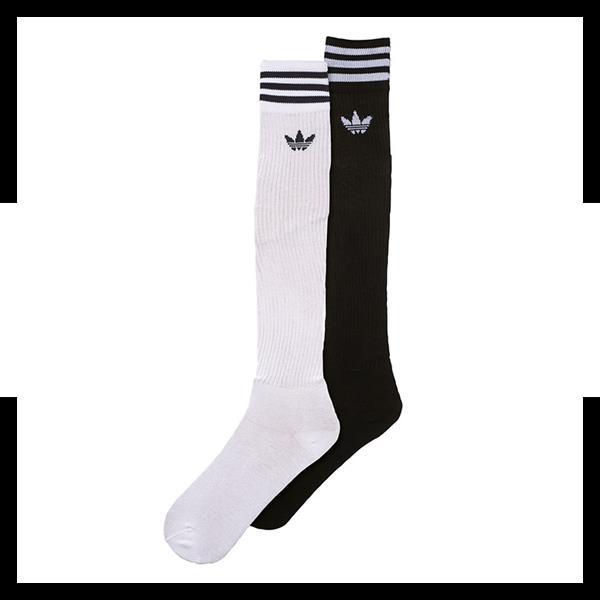 großer Rabatt klare Textur klar und unverwechselbar adidas Originals Solid Knee Socks 2er Pack Weiss