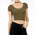 Scoop Neck Seamless Crop Top