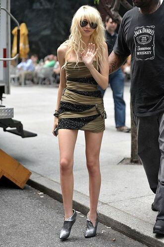 taylor momsen gossip girl green dress brown dress black dress dress