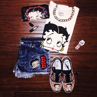 shirt betty boop betty boo cute gottohave shoes shorts bag t-shirt