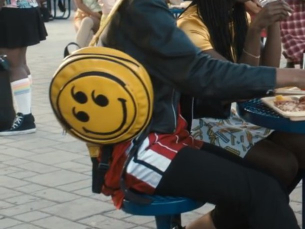 bag smiley yellow fancy black cool funny