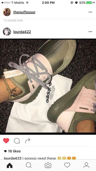 shoes sneakers adidas pink green pink and green green and pink pretty girl