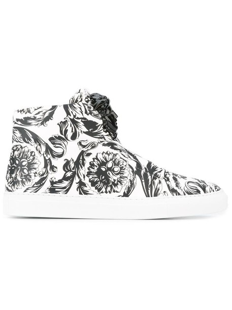 VERSACE women sneakers leather white shoes