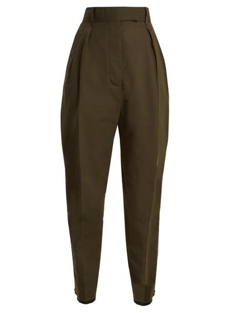 Haider Ackermann high cotton khaki pants