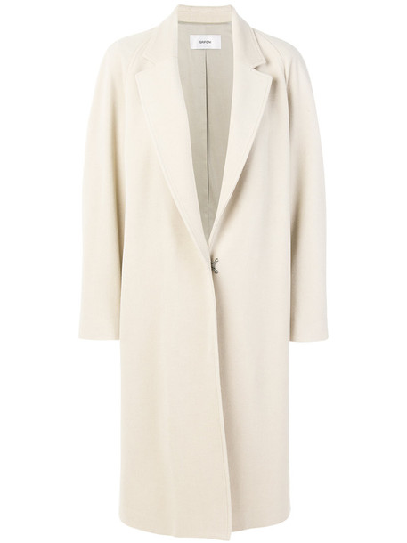 Mauro Grifoni coat women fit white cotton wool