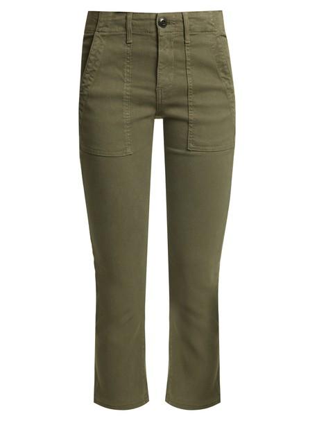 The Great nerd cotton dark green pants