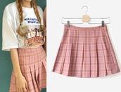 skirt,xs skirt,pleated skirt,tennis skirt,pink skirt