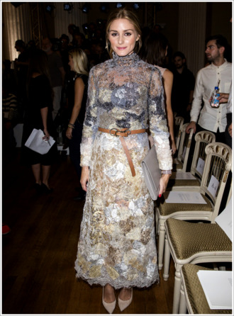 dress lace dress fashion week 2014 olivia palermo marchesa