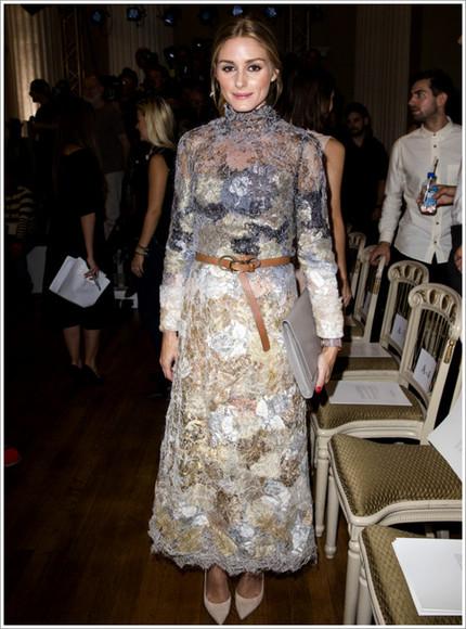 olivia palermo dress fashion week 2014 lace dress