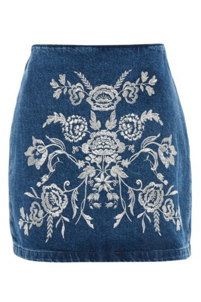 skirt embroidered