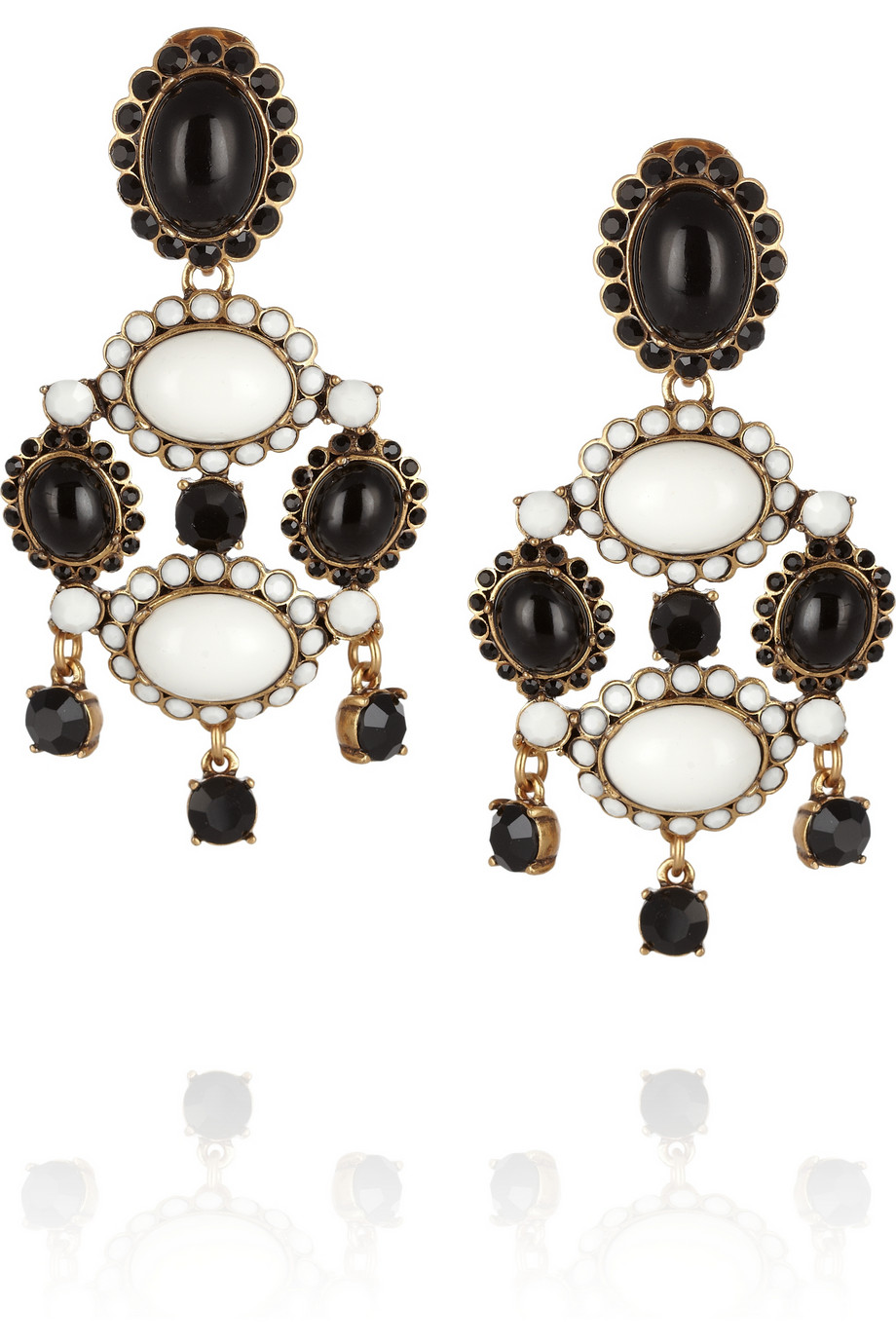 Gold-plated cabochon clip earrings | THE OUTNET