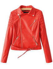 jacket,red,pu leather,cool,moto,biker,zip,coat,brenda-shop,36683,leather jacket,faux leather,trendy