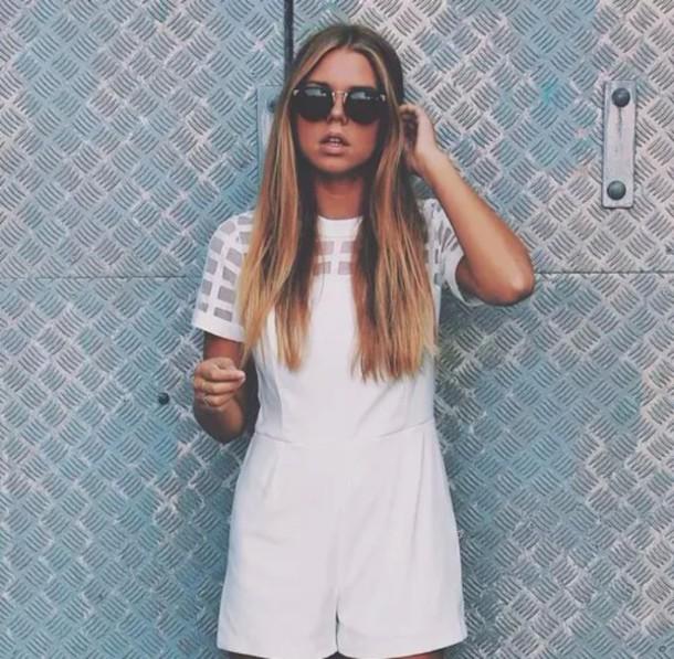 jumpsuit white translucent frames