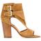 Laurence dacade - block heel sandals - women - leather - 35, brown, leather