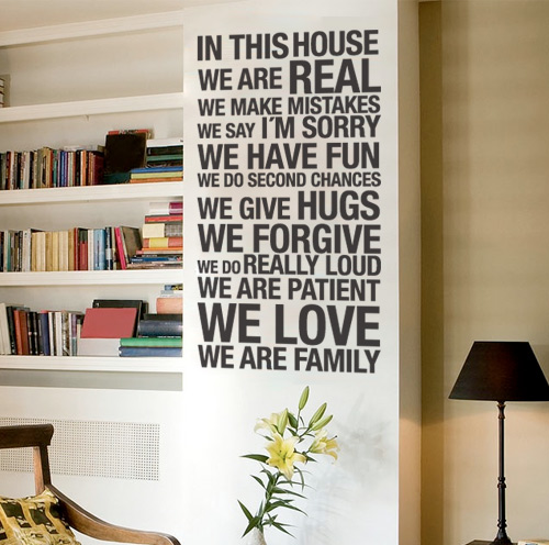 Wall Decals For Home wall decal - in this house - wall decals , home wallart decals