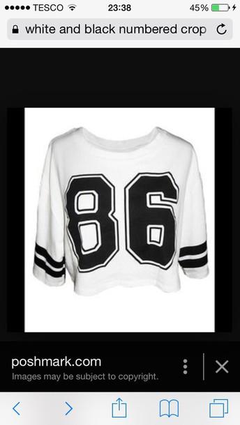 blouse number tee swag top crop tops