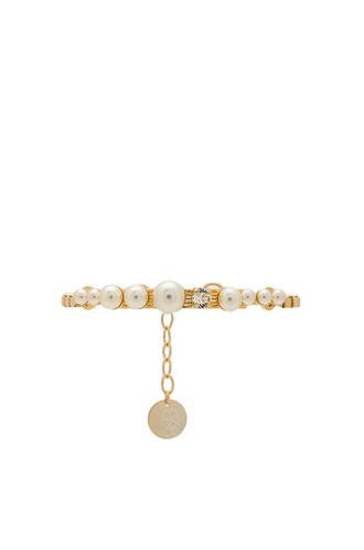 cream metallic gold jewels