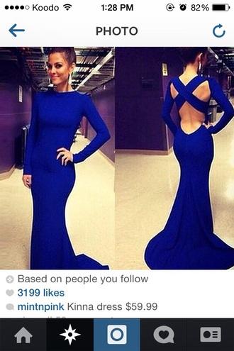 dress cobalt blue prom dress