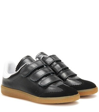 suede sneakers sneakers leather suede black shoes