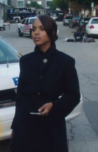 coat scandal wool kerry washington olivia pope black winter jacket jeans sateen skinny