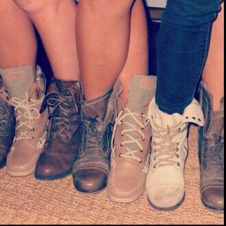 shoes combat boots vintage