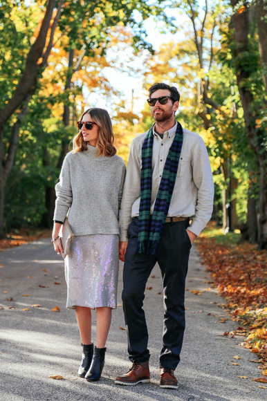 sequins blogger bag jewels prosecco and plaid sunglasses scarf menswear midi skirt turtleneck hipster menswear flannel scarf boyfriend