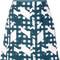 Carven - graphic print mini skirt - women - polyester/acetate/viscose - 40, green, polyester/acetate/viscose