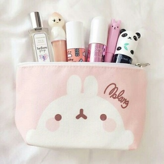 nail accessories trousse cute kawaii girl girly mignon beautiful make-up choux maquillage mode fashion accessories rose beauté