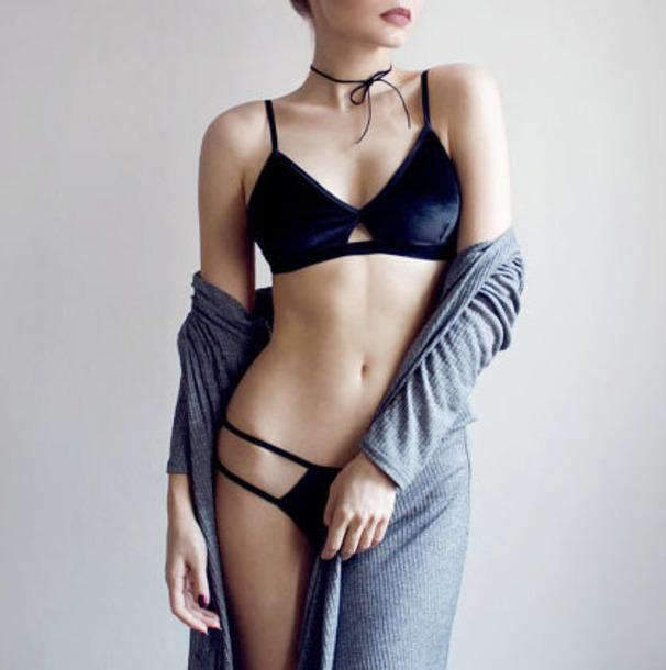 underwear velvet velvet lingerie lingerie lingerie set velvet bralette