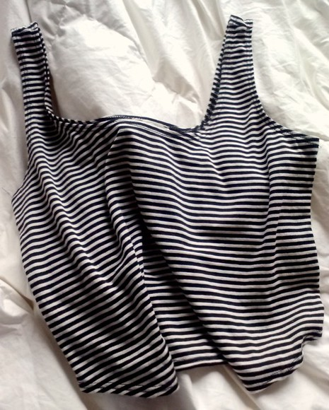 shirt striped tumblr girl black and white tank top