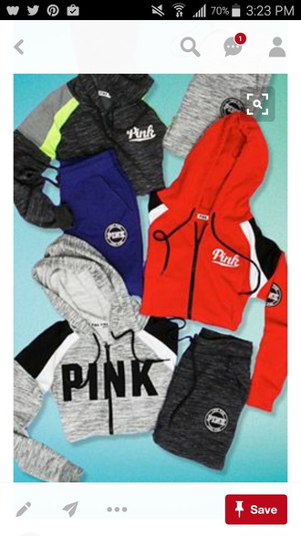 jacket hoodie pink by victorias secret